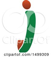 Clipart Of An Abstract Letter J Logo Royalty Free Vector Illustration