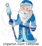 Clipart Of Father Frost Or Santa Claus Royalty Free Vector Illustration by visekart