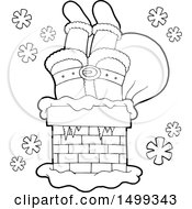 Black And White Chimney With Santas Legs