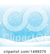 Clipart Of A Winter Snow Background Royalty Free Vector Illustration