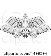 Zentangle Black And White Elephant Head