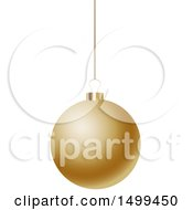 3d Suspended Gold Christmas Bauble