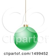 3d Suspended Green Christmas Bauble