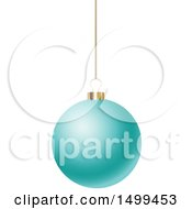 3d Suspended Turquoise Christmas Bauble
