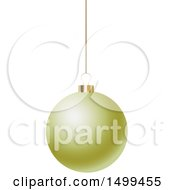 3d Suspended Yellow Christmas Bauble
