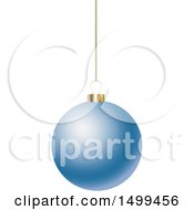 3d Suspended Blue Christmas Bauble