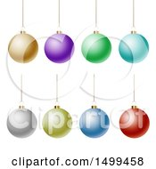 3d Suspended Colorful Christmas Bauble Ornaments