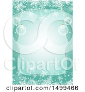 Clipart Of A Christmas Border With 3d Baubles And Snowflakes Royalty Free Vector Illustration by KJ Pargeter