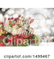 Merry Christmas Design Over A Blurred Background