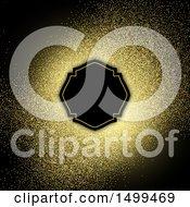 Gold Glitter And Frame On Black