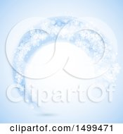 Snowflake Swoosh Background