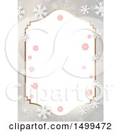 Christmas Border With Snowflakes
