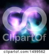 Clipart Of A Colorful Nebula Background Royalty Free Illustration