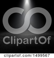 Clipart Of A Spotlight In A Dark Interior Royalty Free Illustration by KJ Pargeter