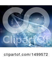 Clipart Of A Background Of Waves Stars And Snowflakes Royalty Free Illustration