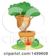 Bonsai Tree House With Pots