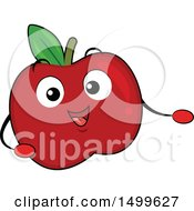 Clipart Of A Red Apple Character Mascot Presenting Royalty Free Vector Illustration