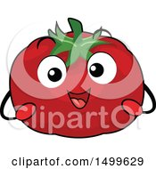 Clipart Of A Happy Tomato Character Mascot Royalty Free Vector Illustration by BNP Design Studio