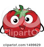 Happy Tomato Character Mascot