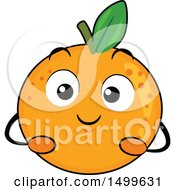 Clipart Of A Navel Orange Character Mascot Royalty Free Vector Illustration