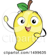 Clipart Of A Mango Character Mascot Royalty Free Vector Illustration by BNP Design Studio