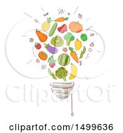 Sketched Light Bulb Of Produce
