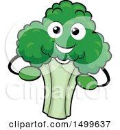 Happy Broccoli Character Mascot