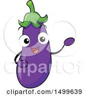 Happy Eggplant Character Mascot