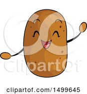 Clipart Of A Happy Potato Character Mascot Royalty Free Vector Illustration by BNP Design Studio
