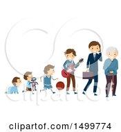 Poster, Art Print Of Depiction Of Children Aging Into Seniors