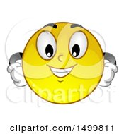 Clipart Of A Smiley Emoticon Emoji Looking Arrogant Royalty Free Vector Illustration