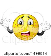 Clipart Of A Smiley Emoticon Emoji Sick With The Chicken Pox Royalty Free Vector Illustration by BNP Design Studio
