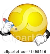 Smiley Emoticon Emoji Drawing Its Face