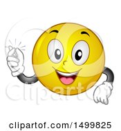 Clipart Of A Smiley Emoticon Emoji Snapping His Fingers Royalty Free Vector Illustration by BNP Design Studio