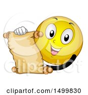 Poster, Art Print Of Smiley Emoticon Emoji Reading A Scroll