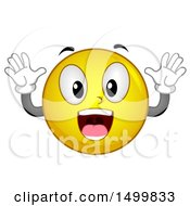 Clipart Of A Smiley Emoticon Emoji Acting Surprised Royalty Free Vector Illustration