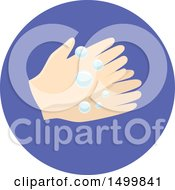 Clipart Of A Pair Of Hands Washing With Bubbles Royalty Free Vector Illustration by BNP Design Studio