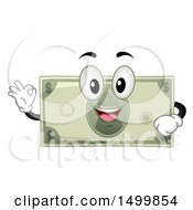Clipart Of A Dollar Bill Mascot Character Gesting Perfect Or Ok Royalty Free Vector Illustration