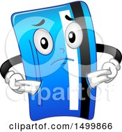 Credit Card Mascot Character With Empty Pockets
