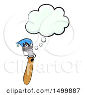 Clipart Of A Paintbrush Mascot Character Thinking Royalty Free Vector Illustration by BNP Design Studio
