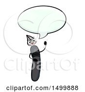 Clipart Of A Dip Pen Mascot Talking Royalty Free Vector Illustration by BNP Design Studio