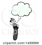 Dip Pen Mascot Thinking
