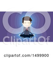 Clipart Of A Meditating Business Man In A Lotus Pose Royalty Free Vector Illustration by BNP Design Studio