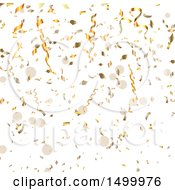 Poster, Art Print Of Background Of Falling Gold Confetti