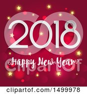 Clipart Of A Happy New Year 2018 Design Over Pink Royalty Free Vector Illustration