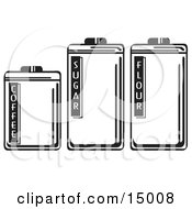 Three Storage Canisters In A Kitchen Holding Coffee Sugar And Flour Clipart Illustration