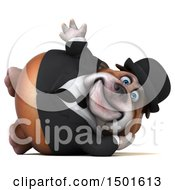 Clipart Of A 3d Business Or Gentleman Bulldog On A White Background Royalty Free Illustration