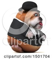 Clipart Of A 3d Business Bulldog On A White Background Royalty Free Illustration