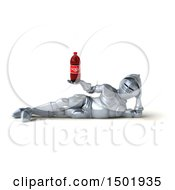Clipart Of A 3d Armored Knight Holding A Soda On A White Background Royalty Free Illustration