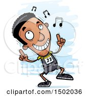 Clipart Of A Black Male Track And Field Athlete Doing A Happy Dance Royalty Free Vector Illustration